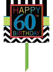 Celebrate 60th Birthday Yard Sign