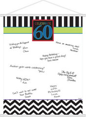 Celebrate 60th Birthday Sign-In Sheet