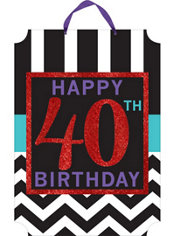 Glitter Celebrate 40th Birthday Sign