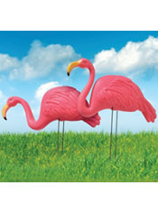 Pink Flamingo Yard Stakes 2ct Party City