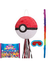 Pull String Pokeball Pinata Kit - Pokemon