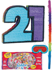 Number 21 Pinata Kit
