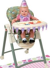 Pink Ladybug 1st Birthday High Chair Decorating Kit 4pc