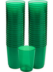 Festive Green Plastic Cups 72ct