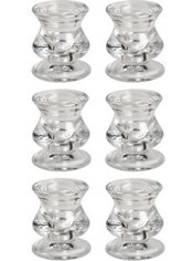 Clear Taper Candlestick Holders 6ct