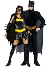 Batgirl and Batman Dark Knight Muscle Couples Costumes