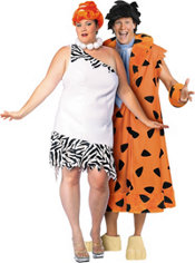 Plus Size Wilma and Fred Flintstone Couples Costumes
