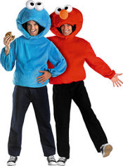 Cookie Monster and Elmo Sesame Street Couples Costumes