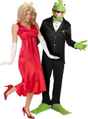 Miss Piggy and Kermit The Frog Muppets Couples Costumes