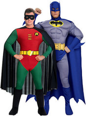 Deluxe Robin and Deluxe Brave and the Bold Batman Couples Costumes