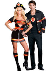 Smokin' Hot Firefighter and Sexy Firefighter Couples Costumes