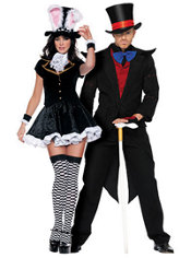 Totally Mad Mad Hatter and Evil Mad Hatter Couples Costumes