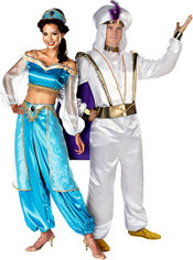 Prestige Jasmine and Aladdin Couples Costumes