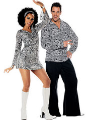 Disco Diva and Funky 70's Couples Costumes