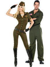 Air Force Angel and Air Force Jumpsuit Couples Costumes