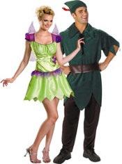 Rainbow Classic Tinker Bell and Peter Pan Couples Costumes