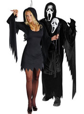 Sexy Ghost Face and Ghost Face Couples Costumes