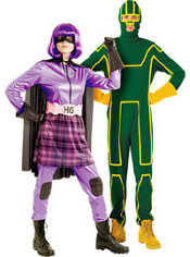 Deluxe Hit-Girl and Deluxe Kick-Ass Couples Costumes
