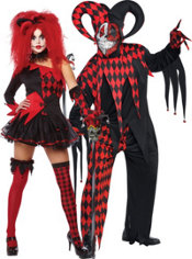 Jesterina and Evil Jester Couples Costumes
