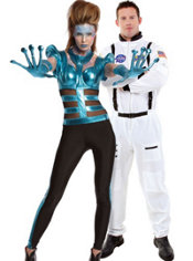Out of this World Alien and Astronaut Couples Costumes