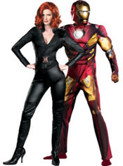 Black Widow and Iron Man Couples Costumes