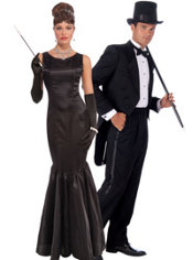 High Society Gal and High Society Guy Couples Costumes