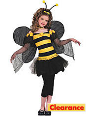 Girls Sweet Bee Costume