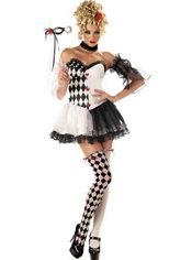 Adult Le Belle Harlequin Costume