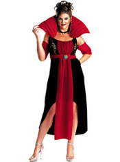 Adult Queen of Darkness Vampire Costume Plus Size