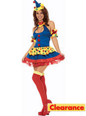 Adult Clowning Around Sexy Clown Costume