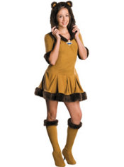 Teen Girls Cowardly Lion Costume - Wizard of Oz