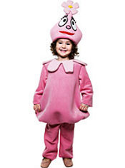 Toddler Girls Foofa Costume Deluxe - Yo Gabba Gabba