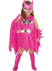 Toddler Girls Pink Batgirl Costume