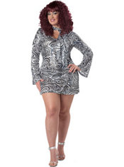 Adult Disco Diva Plus size 70s Disco Costume