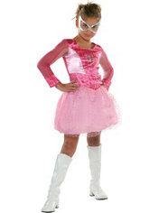 Girls Pink Spider-Girl Costume