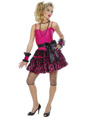 Adult Party Girl 80's Costume