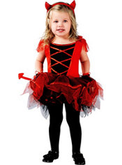 Toddler Girls Devilina Devil Costume