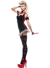 Adult French Kiss Pin-Up Girl Costume