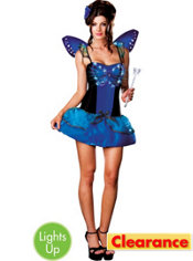 Adult Blue Butterfly Beauty Light-Up Costume