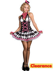 Adult Harlequin Honey Circus Clown Costume
