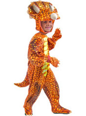 Toddler Boys Red Triceratops Costume