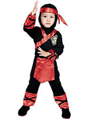 Toddler Boys Fire Ninja Costume