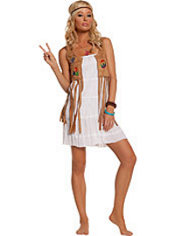 Adult Flower Child Hippie Costume