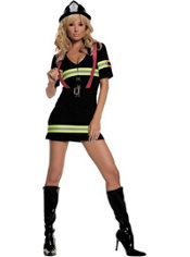 Adult Ms. Blazin' Hot Firefighter Costume