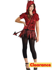 Girls Devil in da Hood Costume