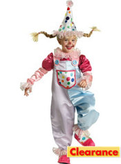 Girls Cutie Clown Costume Elite