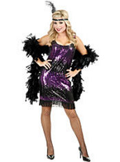Adult Sequin Flapper Costume