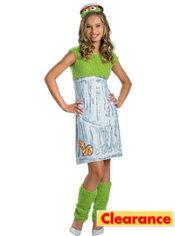 Girls Oscar the Grouch Costume - Sesame Street