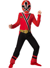 Boys Red Ranger Costume - Power Rangers Samurai
