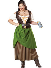 Adult Tavern Maiden Costume Plus Size